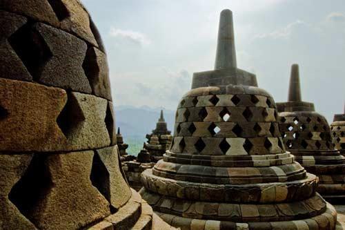 亚洲世界遗产-婆罗浮屠,印尼