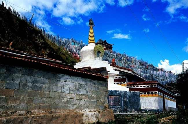 索克藏寺的白塔 作者:荆无牙