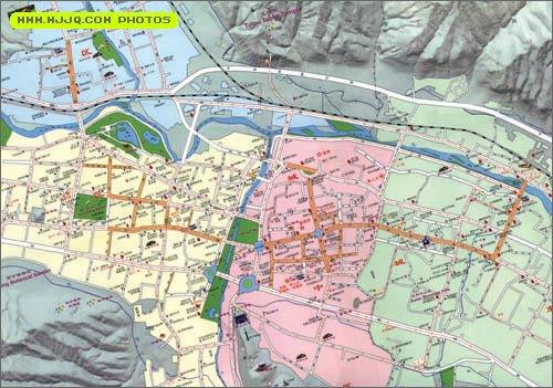 西宁市区旅游地图图片