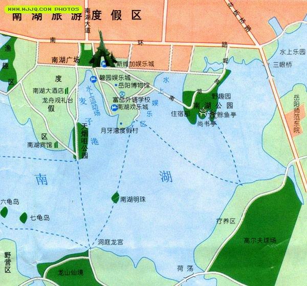 南湖旅游度假区导游图