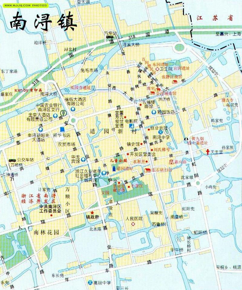 南浔古镇地图高清图片