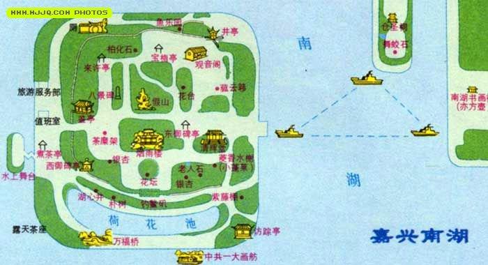 嘉兴南湖导游图