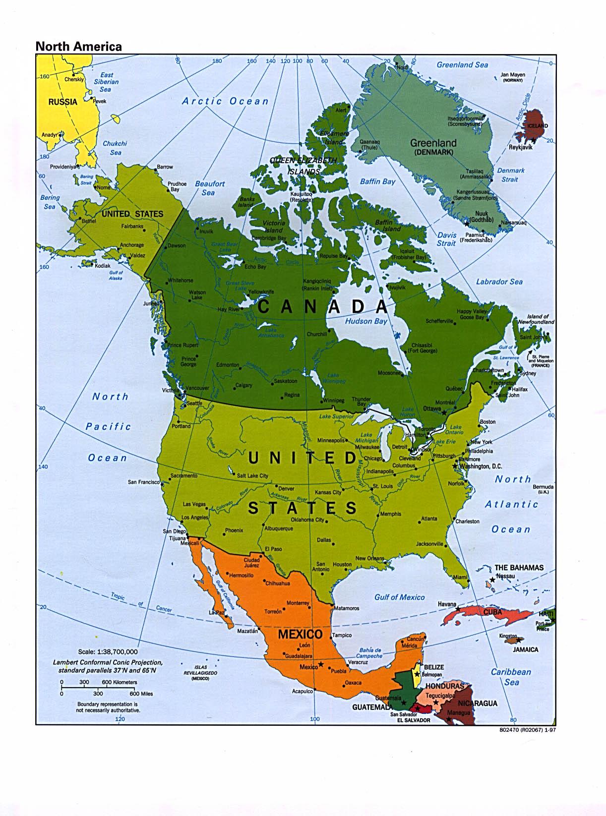 美國五十州英文名稱, 中文名稱, 及縮寫 (有地圖)