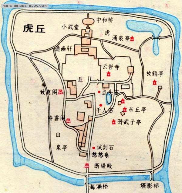 虎丘旅游地图