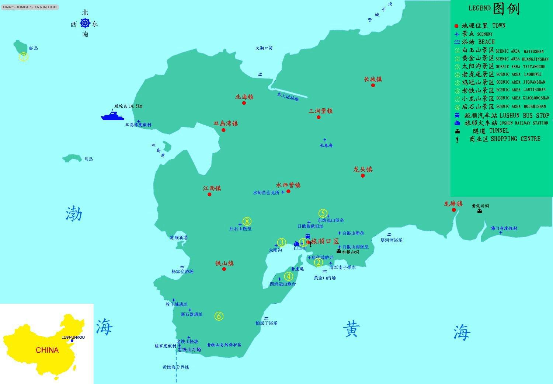 旅顺口地处辽东半岛最南端,是 图片