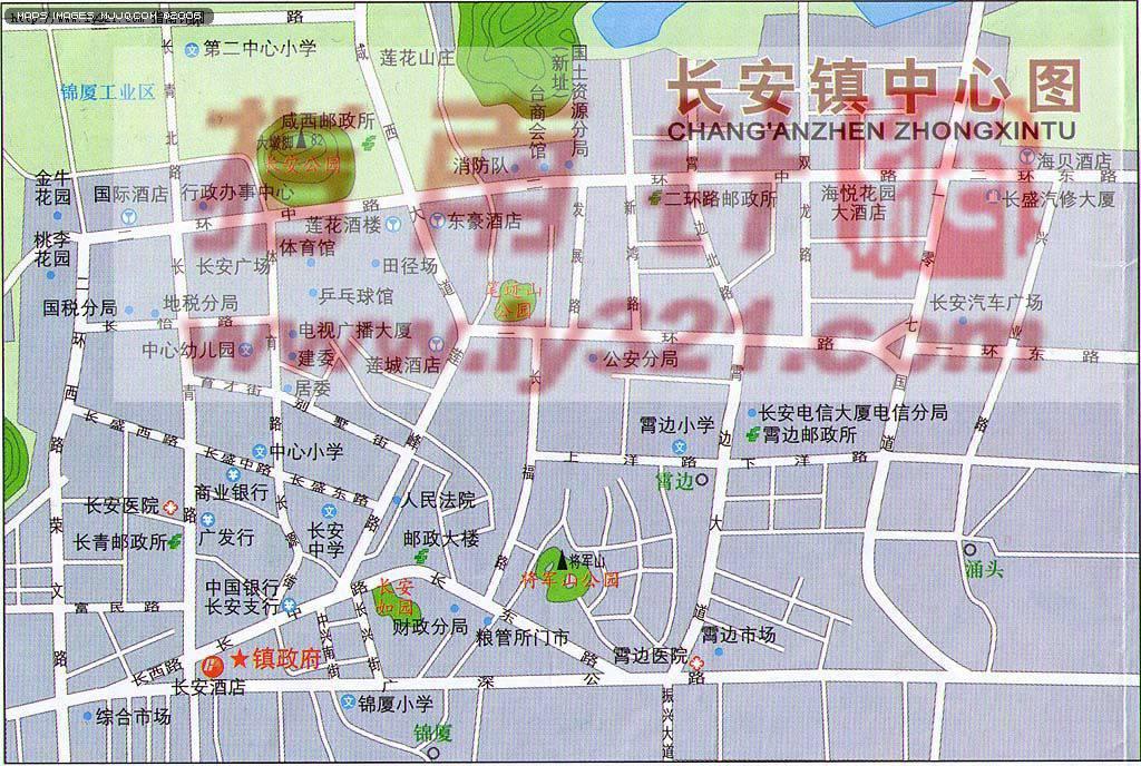 东莞市长安镇各区地图【相关词_ 东莞市长安镇邮政编码】图片
