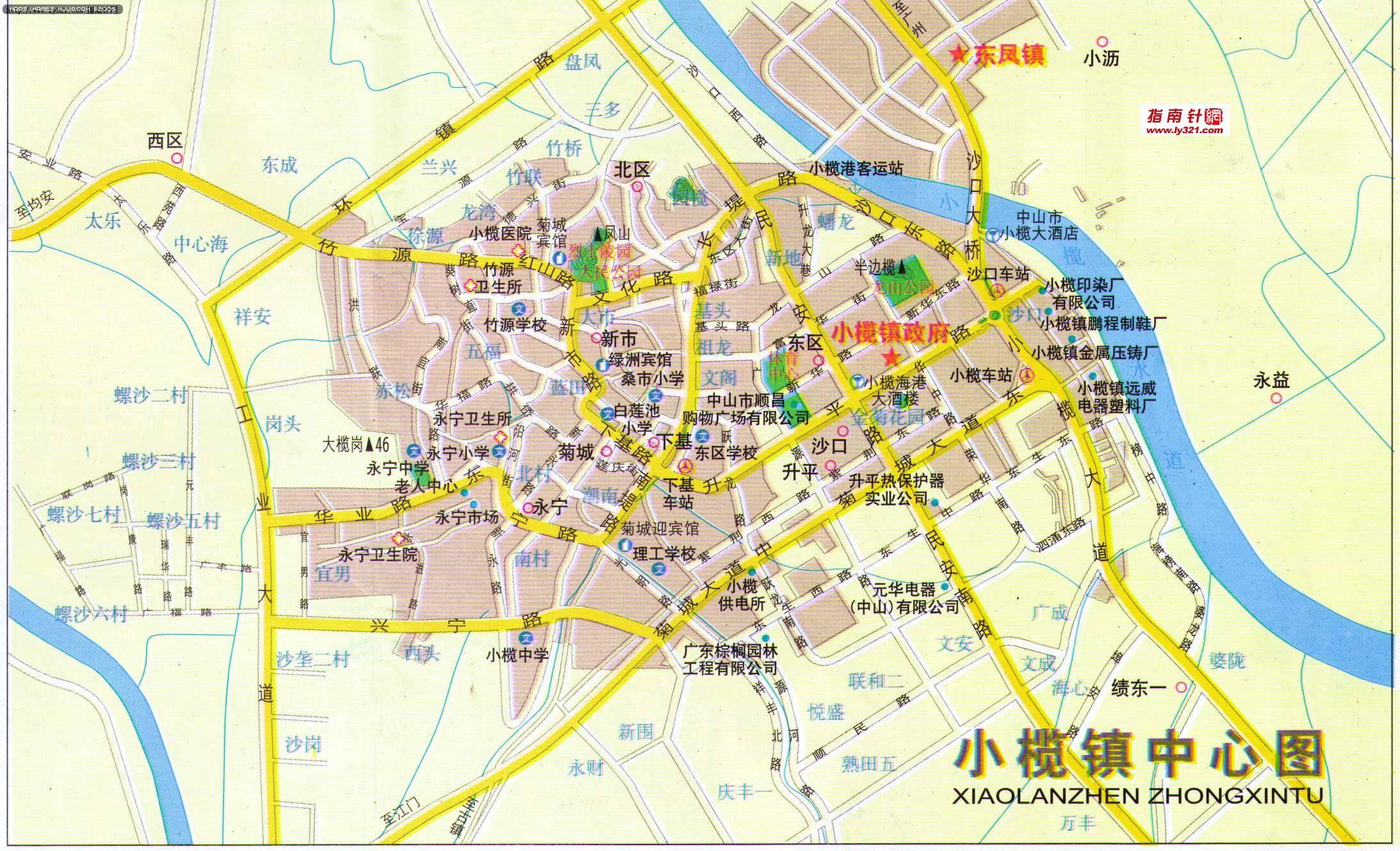 地图 中山市/中山市小榄镇中心地图