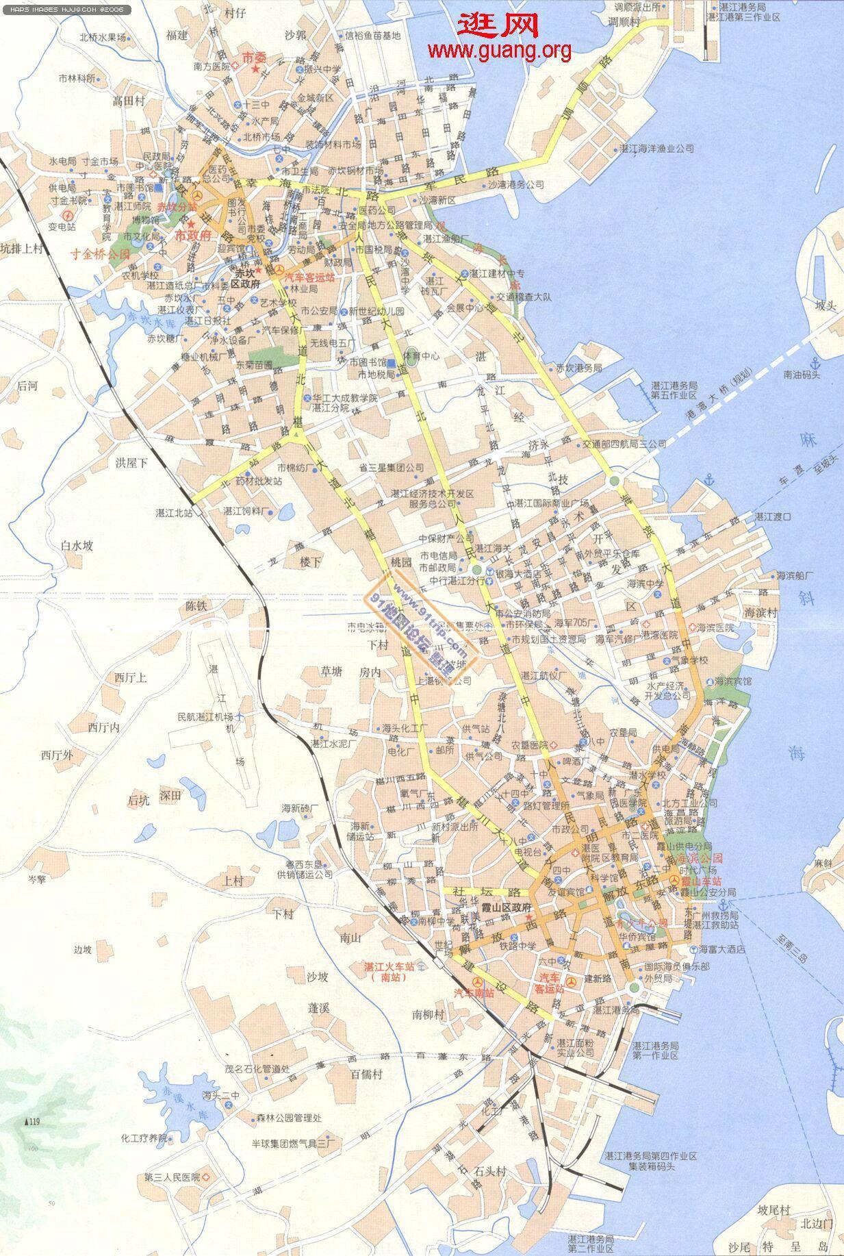 地图 广东/广东湛江地图