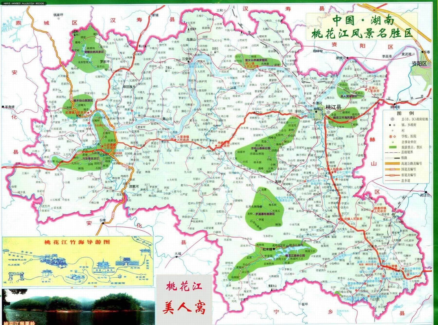 桃花江风景区 - 湖南旅游地图 中国地图 - 美景旅游网