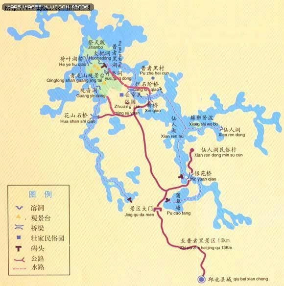 黑风景名胜区 - 云南旅游地图 中国地图 - 美景旅游网