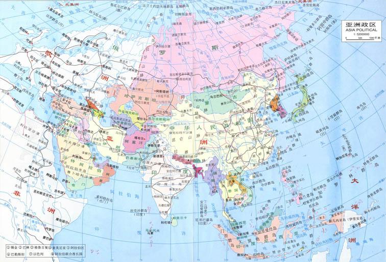 亚洲地图.点击查看大图